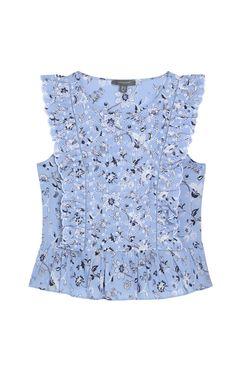 Primark - Blusa azul con estampado de flores 13€
