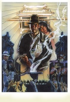 Unused Drew Struzan poster for Raiders of the Lost Ark.