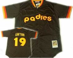 Brown & Yellow Padres Gwynn
