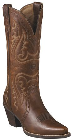 """Womens Heritage Western X Toe 12"""" Boots"""