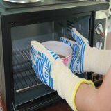 """#1 Oven Extra Long Cuff Gloves - 14"""" to Protect Arms - Defy Heat up to 662°F - Set of 2 Large/X-Large Size BBQ"""