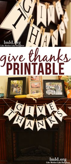 Thanks Banner - a cute printable for this give thanks banner to celebrate and be thankful this Thanksgiving!Give Thanks Banner - a cute printable for this give thanks banner to celebrate and be thankful this Thanksgiving! Diy Thanksgiving Crafts, Thanksgiving Banner, Holiday Banner, Thanksgiving Centerpieces, Thanksgiving Parties, Holiday Fun, Rustic Thanksgiving, Holiday Decorations, Thanksgiving Recipes