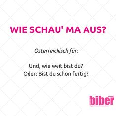 Österreichische Floskel German Language, Funny Facts, Play Hard, True Stories, Austria, Work Hard, Qoutes, Sayings, Gaudi