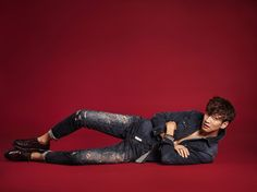 Lee Kwang Soo and Nara (Hello Venus) have been chosen to show the F/W 2016 collection for brand Buckaroo. We think this is a perfect pairing – they're both super tall and skinny and the… Running Man Cast, Running Man Korea, Korean Wave, Korean Men, Kwang Soo, Kdrama, Fangirl, Photoshoot, Kpop