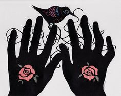 Hands Tied  ORIGINAL Framed Paper Cutting by ruralpearl on Etsy, $300.00