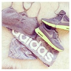 All Grey Workout Outfit