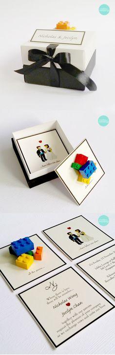 invites - lego! 'nuff said.
