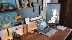 The Backlit Pegboard Workspace