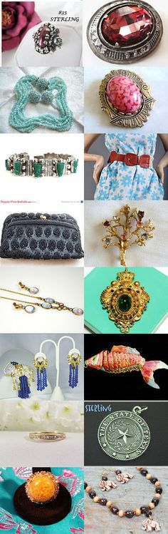 Hot Flash of vintage fashion by Teamlove by cindy cooley on Etsy--Pinned with TreasuryPin.com