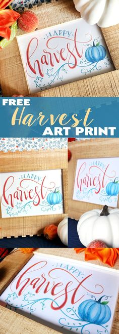 Free Harvest Art Print | Free Fall Printable