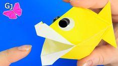 Оригами игрушка Говорящая Рыбка из бумаги - YouTube