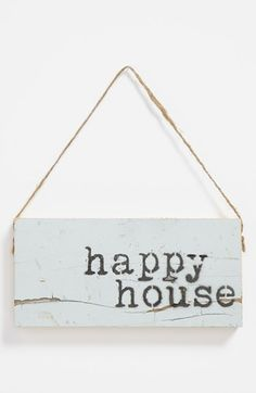 'Happy House' Repurposed Wood Wall Art available at #Nordstrom