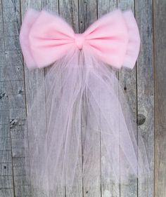Light Baby Pink Tulle Bow