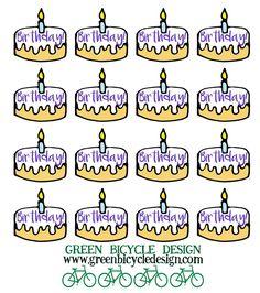 Birthday Cakes 🎂 Reminder Stickers