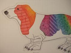 A dog as a rainbow!........  HelenDMoore.co.uk