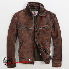 2015 Brown Retro Vintage Leather Motorcycle Jacket Men High Quality Thick Genuine Cowskin Male Winter Leather Coat FREE SHIPPING-in Leather & Suede from Men's Clothing & Accessories on Aliexpress.com | Alibaba Group