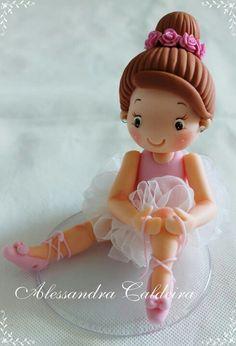 Bailarina en porcelana fria