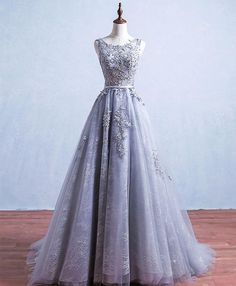 Grey Lace backless prom dresses, Sexy Prom dresses, Lace Prom dresses, Prom dresses online sold by Sweet Lady. Grey Prom Dress, Grey Bridesmaid Dresses, Cute Prom Dresses, Prom Dresses 2017, Long Prom Gowns, Backless Prom Dresses, Tulle Prom Dress, Prom Dresses Online, Sexy Dresses