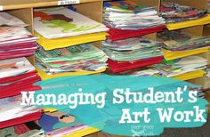 Art room organization how to organize and manage student art art organization tips from deep space . Elementary Art Rooms, Art Lessons Elementary, High School Art, Middle School Art, Cs Lewis, Nikola Tesla, Art Classroom Management, Classroom Organization, Classroom Ideas