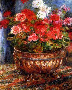 The Athenaeum - Geraniums in a Copper Basin (Pierre Auguste Renoir - No dates listed)