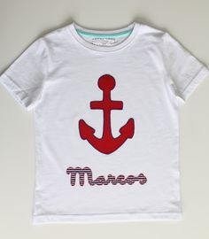 cocodrilova: camiseta marinera para Marcos #camiseta #marinera #ancla