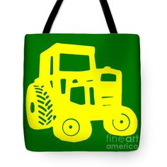 Yellow And Green Emblem Design Tote Bag by Edward Fielding