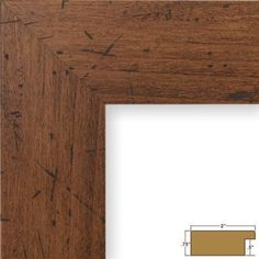 Craig Frames Bauhaus Modern Dark Walnut Picture Frame, Brown