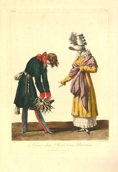 Debucourt, Adieux d'un Russe à une Parisienne, 1814