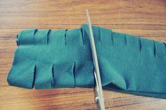 DIY slashed scarf