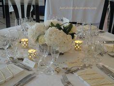mariage ivoire doré hortensia blanc
