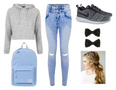 """""""Untitled #57"""" by hooraygeorgina ❤ liked on Polyvore featuring Topshop, NIKE and Herschel Supply Co."""