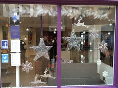 Our window display for the Strand hairdressers