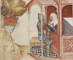 BNF Français 343 Queste del Saint Graal / Tristan de Léonois Folio 33v Dating 1380-1385 From Milan, Italy Holding Institution Bibliothèque Nationale