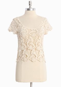 Lace Top - 100% Cotton