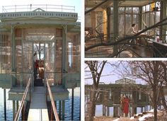 """Unforgettable Movie House from """"The Lake House."""" Built next to Maple Lake in Willow Springs, IL and then torn down after the filming of the movie. Lake Cottage, Cottage Homes, Lake Cabins, Home Tv, House Built, Beach Cottages, Modern Architecture, Images, House Design"""