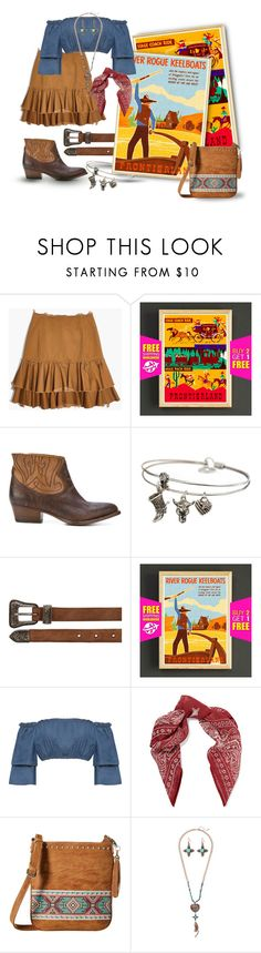 """""""Frontierland (Disney)"""" by funnfiber ❤ liked on Polyvore featuring Madewell, Buttero, Sweet Romance, Yves Saint Laurent, Disney, WearAll, Chan Luu and M&F Western"""