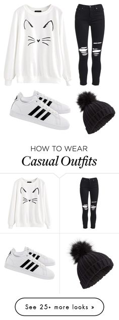 """Casual cat"" by laurenparadis on Polyvore featuring AMIRI, adidas, Miss Selfridge and Hoodies"