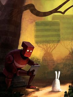 Goro Fujita #Robot #Red #Rabbit