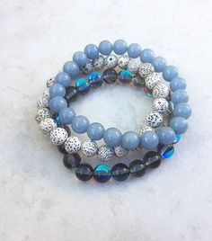 The Higher Realm Stack Gray Mystic Aura by InnerFireJewelry