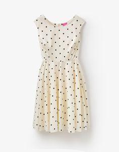 Amelie Black Spot Woven Dress | Joules UK