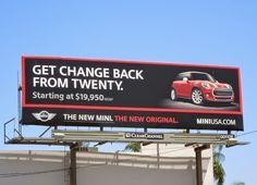 New Mini change from twenty bilboard