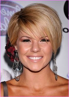 Nice-Popular-Short-Bob-Hairstyles-for-Round-Faces 2014 Short Hair Trends for Round Faces Short Hair Cuts For Round Faces, Round Face Haircuts, Short Straight Hair, Best Short Haircuts, Hairstyles For Round Faces, Short Hairstyles For Women, Straight Hairstyles, Thin Hair, Bob Haircuts