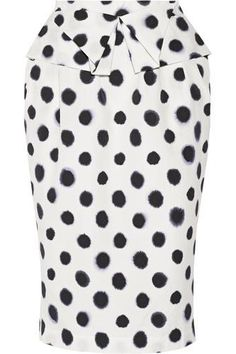Anabelle printed embossed taffeta skirt #skirt #women #covetme #saloni