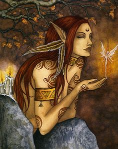 Inspiration and Crafts: Autumn Fairies. Artist: Amy Brown