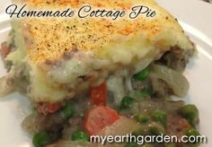 If you've never had cottage pie, it is simply shepherd's pie with ground beef, and it is DELICIOUS. Here's my recipe.