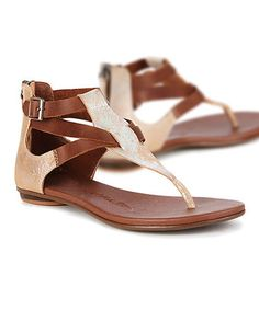 Silver Kinglake Leather Sandal - Women #zulilyfinds