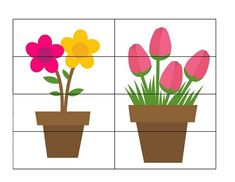 Spring Activities for Kids Counting Activities For Preschoolers, Spring Activities, Games For Kids, Puzzle, Learning, Children, Flowers, Plant, Garden