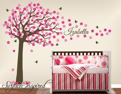 Wall Decals Nursery  Large cherry blossom tree by SurfaceInspired, $125.00