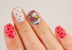 TracesOfPolish hello kitty #nail #nails #nailart