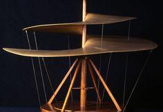 Vis aérienne, maquette réalisée en 1952 par des ingénieurs italiens lors du 500e anniversaire de la naissance de Léonard de Vinci.     © Alessandro Nassiri/Museo Nazionale della Scienza e della Tecnologia Leonardo Da Vinci, Milano
